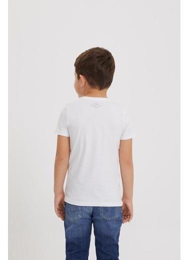 Lee Cooper Erkek Çocuk Beyaz T-Shirt Beyaz
